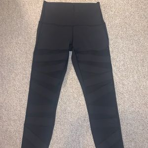 Lululemon Tech Mesh high rise sz 8 blk 25.5 inseam